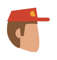 man wearing baseball cap avatar icon image vector image