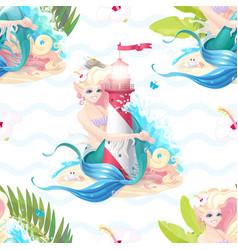 marine seamless pattern art vector image