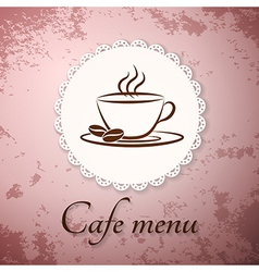 Menu applique card background vector image