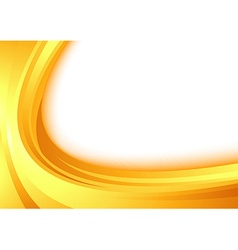 Modern orange border swoosh wave certificate vector