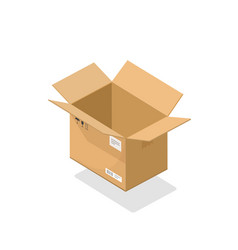 parcel open cartoon 3d vector image