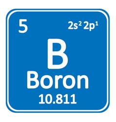 Periodic table element boron icon vector