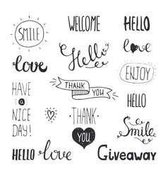 Photo overlays hand drawn lettering vector