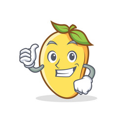 Proud mango character cartoon mascot vector