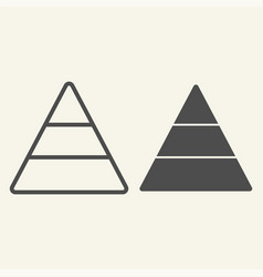 pyramid line and glyph icon report vector image