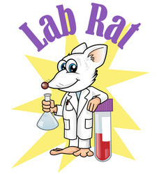 rat lab character cartoon vector vector image