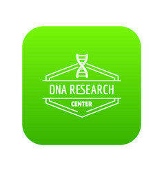 research dna icon green vector image