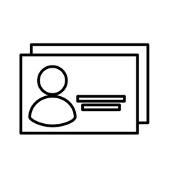 Safety id document icon vector
