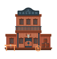 saloon architectural construction wild west vector image