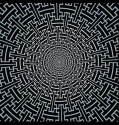 sayagata swastika ornament circle pattern vector image