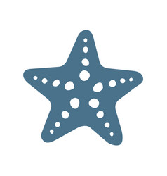 Sea starfish single icon separate isolated vector