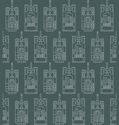 seamless military pattern with tanks vector image