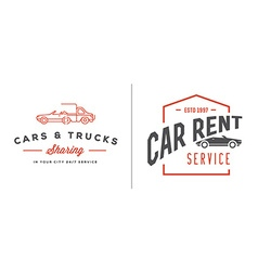 Set of car rental service elements can be used vector