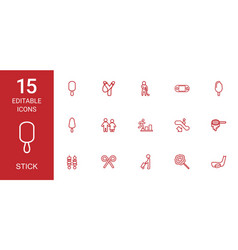 stick icons vector image
