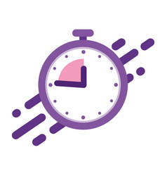 Stopwatch with speed lines concept quickly vector