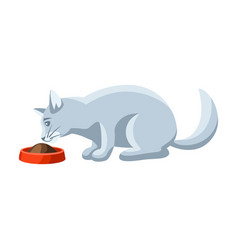 stylized eating cat vector image