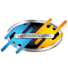 Symbol air conditioning cooling and heating vector