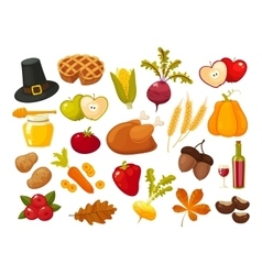 symbols thanksgiging day and family traditions vector image