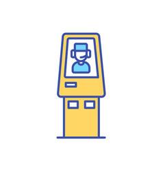 Telemedicine kiosk rgb color icon vector