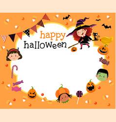 Template brochure in halloween concept vector