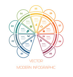 template colorful semicircle from lines vector image