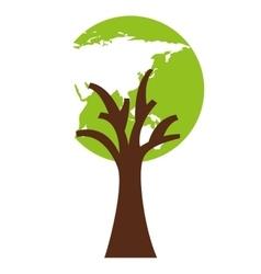 tree plant eco icon vector image