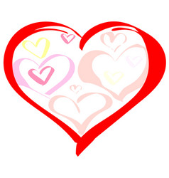 valentines day heart symbol of love vector image