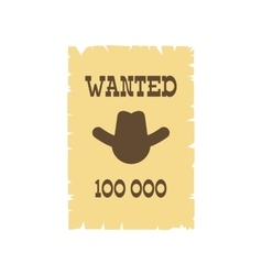Vintage wanted poster icon vector