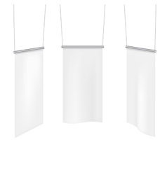 White textile banners template set vector image