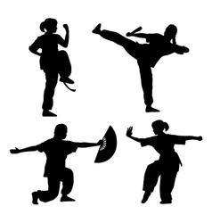 Wushu girl vector