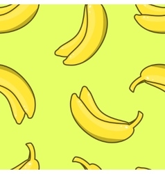 Yellow Banana seamless pattern vector