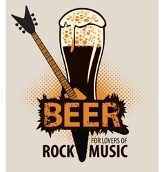 beer for lovers of rock music vector image