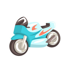 blue sportive motorcycle racing related objects vector image