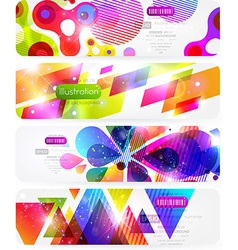 Bright Abstract Header Set for Design vector image vector image