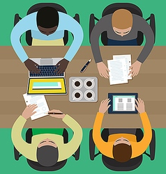 Coworkers on a business meeting vector image vector image