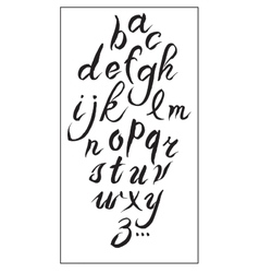 Set hand-drawn ink calligraphy alphabet on white vector image vector image