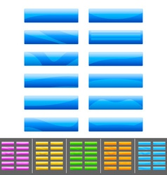 blue buttons set vector image vector image