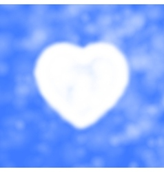 cloud in the form of heart vector image