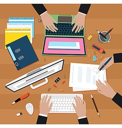 Coworking in office vector image