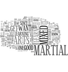 why do you want to learn mixed martial arts text vector image vector image