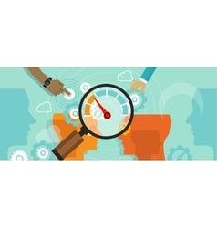 business benchmarking benchmark measure company vector image