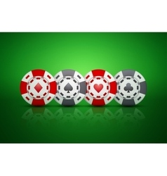 Casino chips with card suit symbols vector image