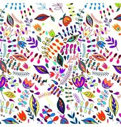 Floral vintage flower pattern vector image