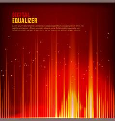 multi color audio waveform technology background vector image