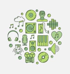 music circular sign vector image