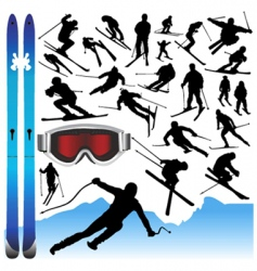 ski design elements vector image