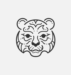 Tiger Line Mono vector image vector image