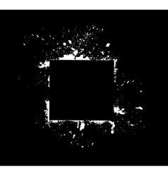 White frame on black vector