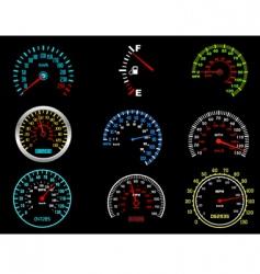 car speedometers vector image