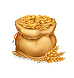 realistic of a bag with wheat vector image